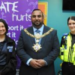 Keigley Mayor Councillor Mohammed Nazam meets Police Personnel